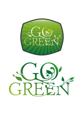 go green: Go Green Typographic Illustration Illustration