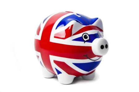 money pounds: British Piggy Bank