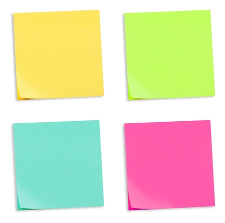 Colored Adhesive Note Papers Stock Photo - 8956434