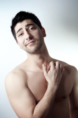 Studio portrait shot of a topless handsome man Stock Photo - 9079549