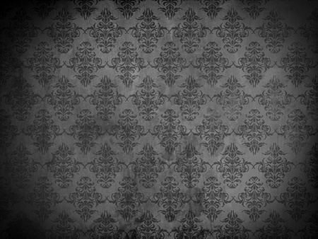 Damask wallpaper or background with grunge and floral ornaments photo