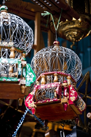 Image of traditional Arabian birdcages found in Tunis photo