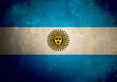Argentina Flag on old and vintage grunge texture photo