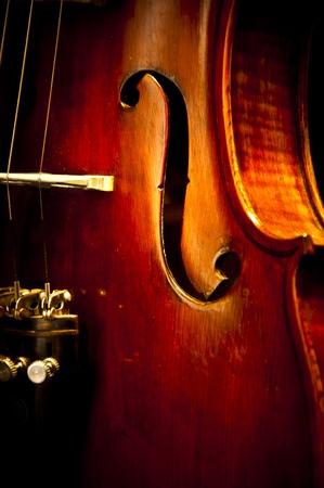 orchester: Eine verbesserte Nahaufnahme Bild von einer alten Violine
