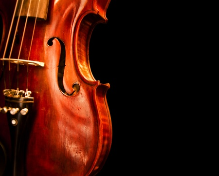 A copy space with close up shot of a violin photo
