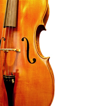 An enhanced close up image of two old violins photo