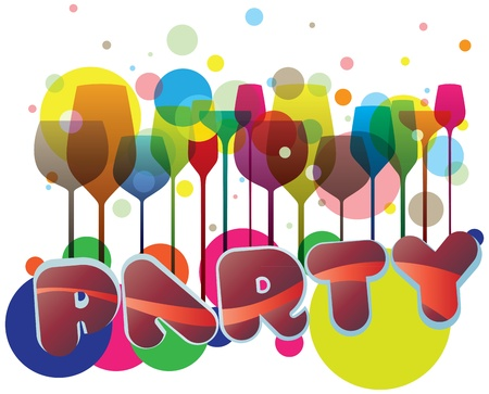 A very colorful illustration, perfect for invitations, posters and flyers Vector
