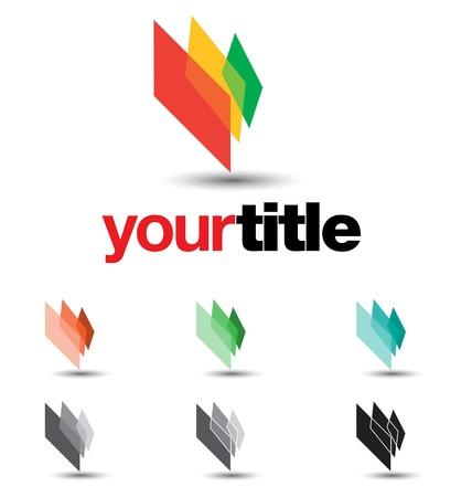 integrer: un �l�ment de design tr�s moderne, fra�che et tendance pour votre entreprise, enti�rement modifiables, a des variations de couleur � des fins diff�rentes Illustration