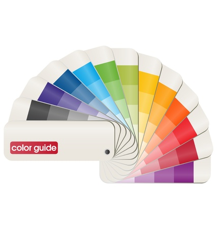 paint samples: 3d vector design of a print color guide