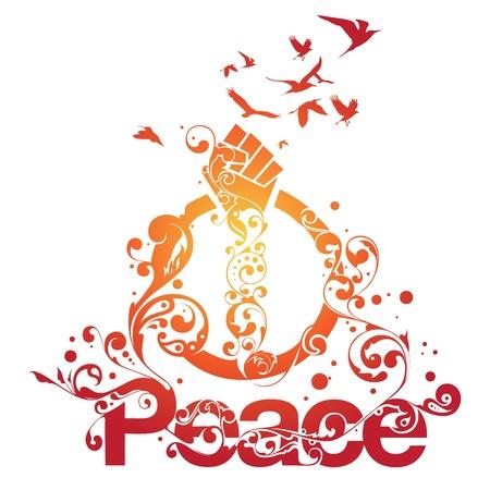 activism: Dise�o de tipo ornamental hermosa con remolinos y adornos y la palabra