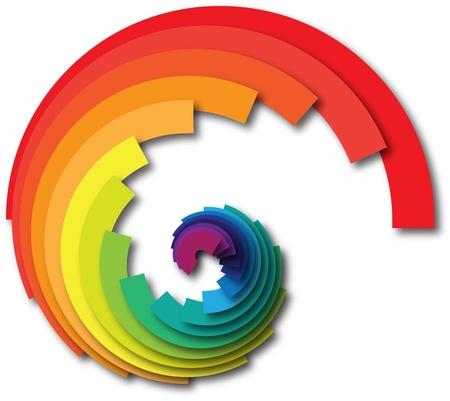 vibrant colors fun: Arcobaleno a spirale Archivio Fotografico