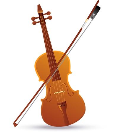 Illustrazione vettoriale di un violino barocco