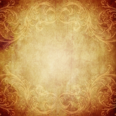 antique background: Vintage paper background with grunge and decorative details