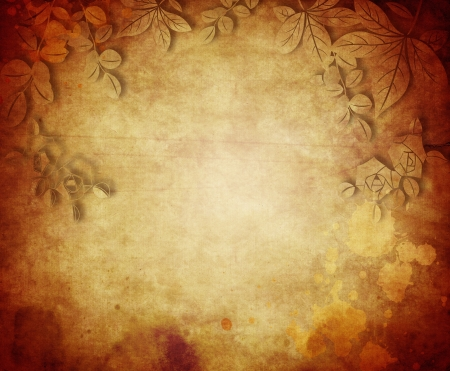 Vintage paper background with grunge and decorative details photo