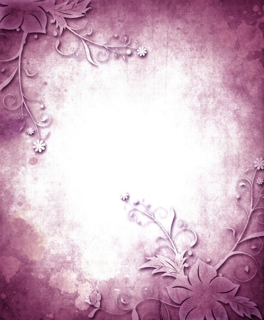 dark purple: Vintage paper background with grunge and decorative details
