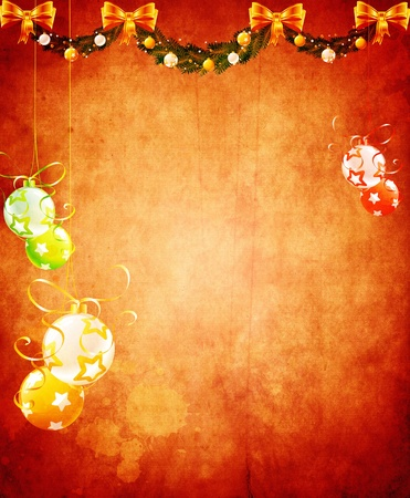 space for images: Vintage Christmas background design with copy space for your text and images, very high resolution available. Stock Photo