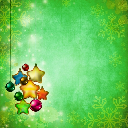modern christmas baubles: Vintage Christmas background design with copy space for your text and images, very high resolution available. Stock Photo