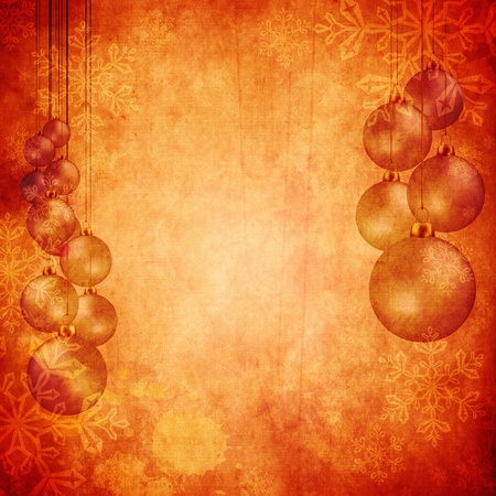 Vintage Christmas background design with copy space for your text and images, very high resolution available. Stock Photo - 10466125