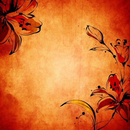 wall paint: Vintage paper background with grunge and decorative details