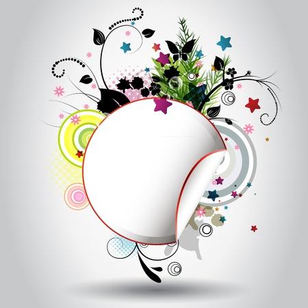 Fond joli cercle avec une ornementation florale