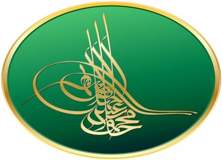 turkey istanbul: Bellissimo design del sultano Mahmoud il secondo Impero Ottomano Vettoriali