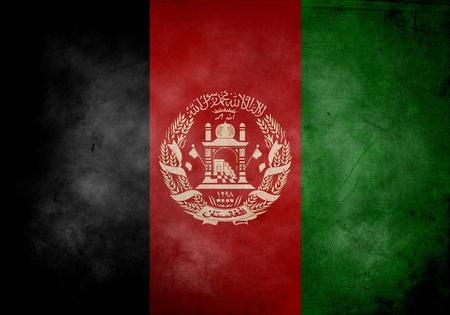 afghan flag: Afghan flag on old and vintage grunge texture