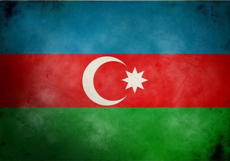 azerbaijan: Azerbaijan flag on old and vintage grunge texture Stock Photo