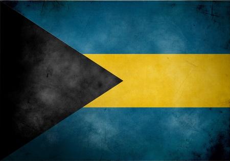 bahamas celebration: Bahamas flag on old and vintage grunge texture
