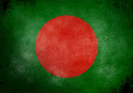 bangladesh: Bangladesh flag on old and vintage grunge texture