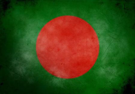 national emblem: Bangladesh flag on old and vintage grunge texture