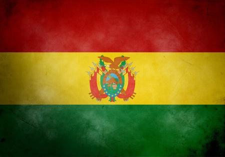 bandera bolivia: Bandera de Bolivia sobre textura grunge antiguos y vintage Foto de archivo