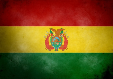 Bolivia flag on old and vintage grunge texture photo