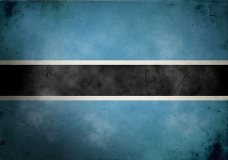 Botswana flag on old and vintage grunge texture photo
