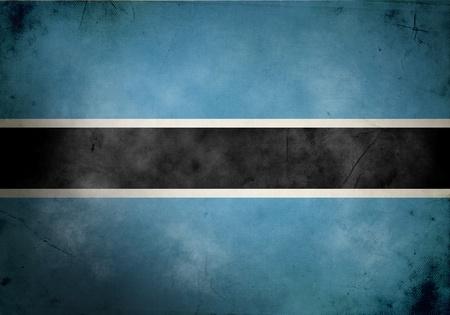 botswana: Botswana flag on old and vintage grunge texture