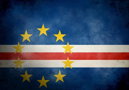cape verde: Cape Verde flag on old and vintage grunge texture Stock Photo