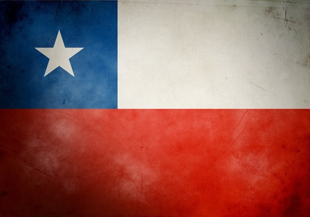 chile flag: Chile flag on old and vintage grunge texture Stock Photo