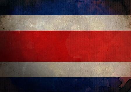 bandera de costa rica: Bandera de Costa Rica en la vieja y de la vendimia de la textura del grunge