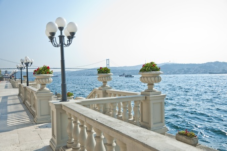 bosporus: Ciragan, Old Ottoman Royal Palace near the Bosporus, Istanbul
