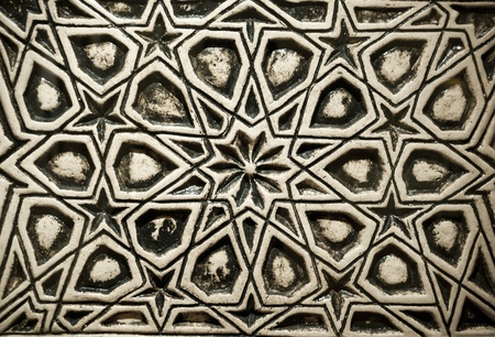 Ottoman Turkish style stone carving texture with oriental designs photo