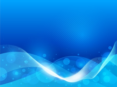 luminous: Modern abstract blue background with elegant lines