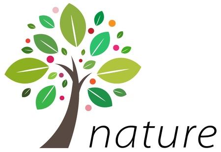 un arbre: Beau mod�le d'entreprise de conception de logo pour votre entreprise Illustration