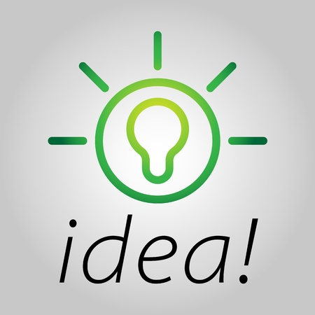 Modern bulb icon symbolising bright ideas in a simple form Vector