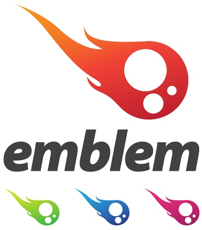logo informatique: �l�ment affaires corporate design, embl�me de boule de feu ou de graines de sperme avec des variations de couleur Illustration