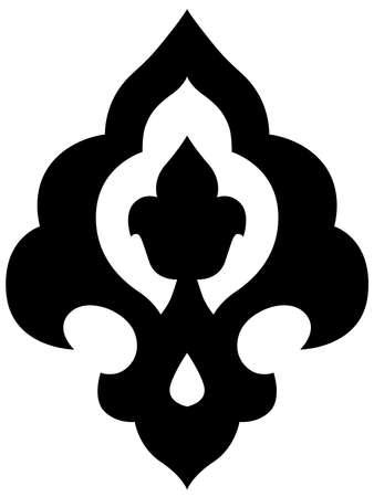 patron islamico: Hermosa otomano Iznik motivo de estilo en un marco circular
