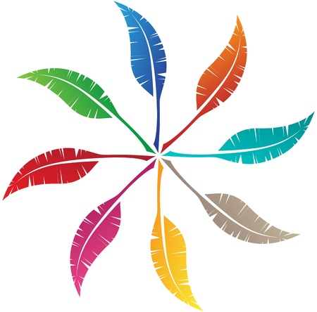 Elegant feather emblem design for your business Stock Vector - 11196375
