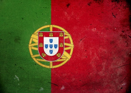 Flag of Portugal on old and vintage grunge texture photo