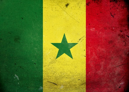 Flag of Senegal on old and vintage grunge texture Stock Photo - 12036971
