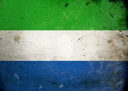 Flag of Sierra Leone on old and vintage grunge texture Stock Photo - 12037002