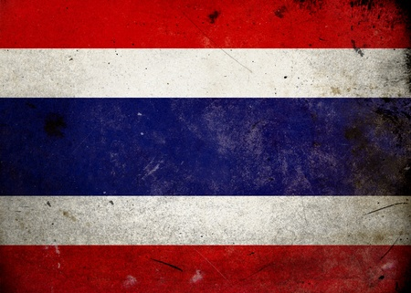 Flag of Thailand on old and vintage grunge texture photo