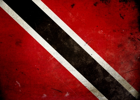 Flag of Trinidad & Tobago on old and vintage grunge texture photo